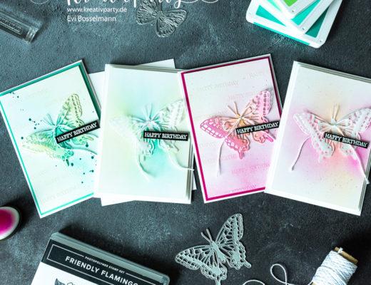 Geburtstagskarten - Ein Schmetterling - zwei Karten -