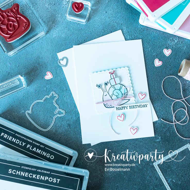 Happy Birthday-Karte für süße Schnecken
