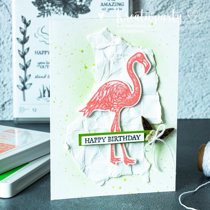 Happy Birthday vom Flamingo