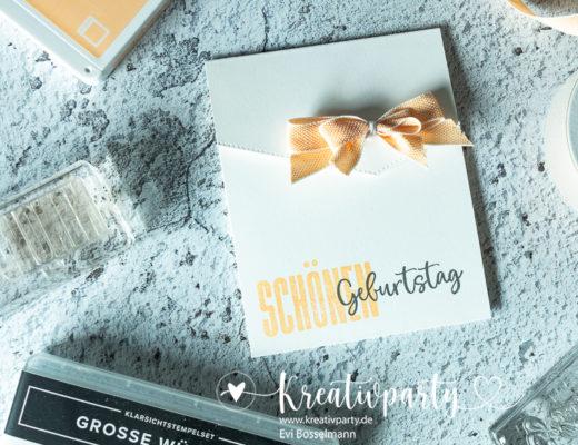 """Umschlagkarte """"Schönen Geburtstag"""""""