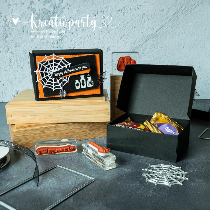 Süßigkeiten-Faltbox zu Halloween